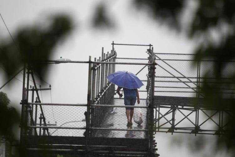 FORTALEZA,CE, BRASIL, 24.03.2021: Manhã de chuva forte em Fortaleza.  (Fotos: Fabio Lima/O POVO). (Foto: FABIO LIMA)