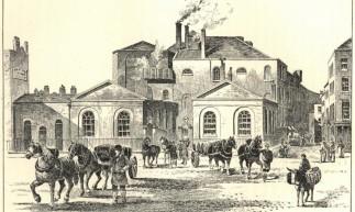 Ilustração do distrito de St. Giles Rookery publicada em 1906 no Brewer's Journal