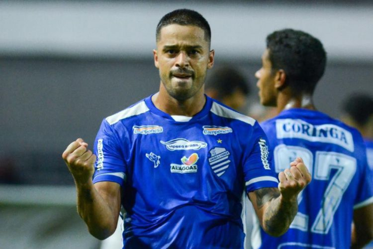 Dellatorre marcou oito gols em oito jogos pelo CSA (Foto: AUGUSTO OLIVEIRA/CSA)