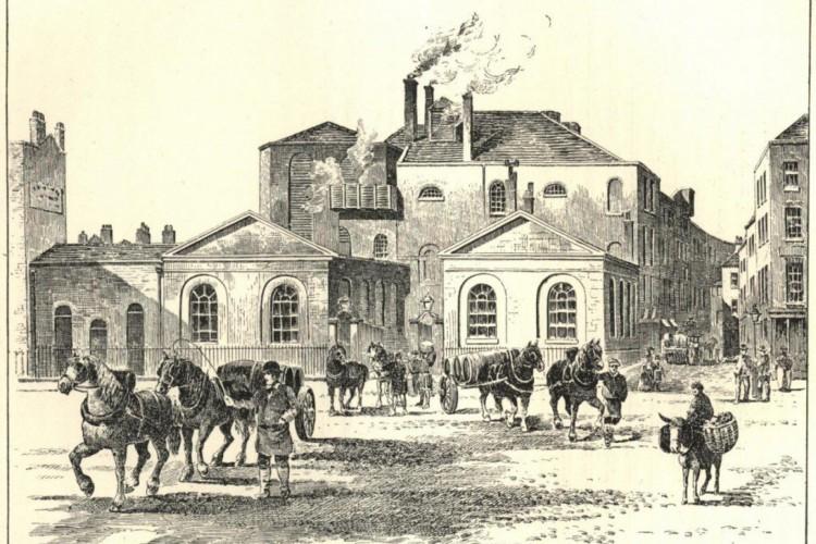 Ilustração do distrito de St. Giles Rookery publicada em 1906 no Brewer's Journal (Foto: Reprodução/Brewer's Journal)