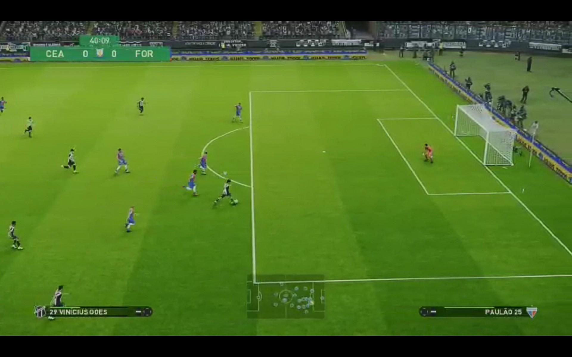 26 de fevereiro de 2021, Imagem reprodução PES 2021 do jogo entre ceara x fortaleza. (Foto Reprodução)