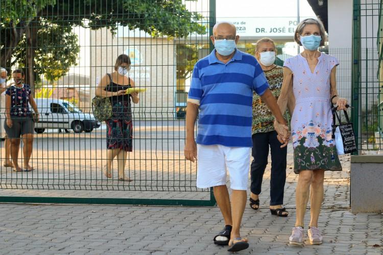 Capital bateu recordes de imunização em um dia com a mobilização. (Foto: BARBARA MOIRA)