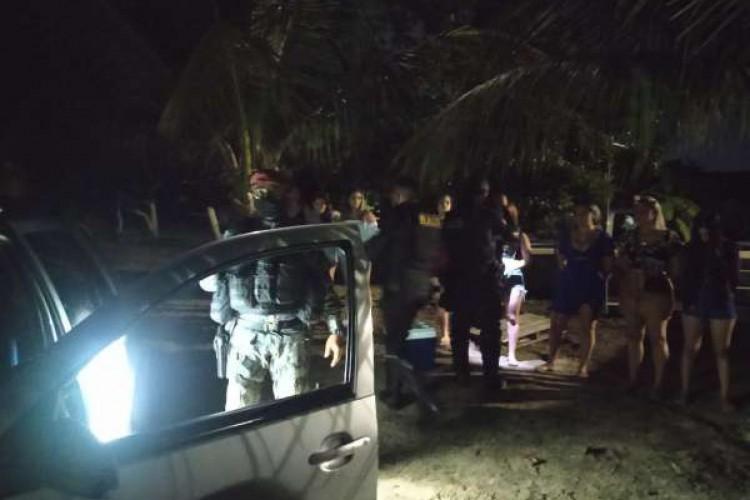Polícia Militar encerra festa com aglomeração neste fim de semana em Caucaia (Foto: Foto: Polícia Militar do Ceará)