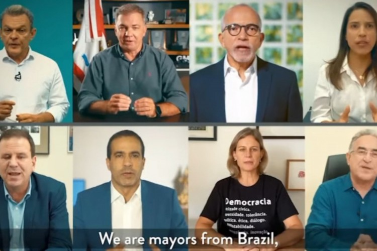 Sarto e outros prefeito fazem apelo por ajuda internacional  (Foto: REPRODUÇÃO)