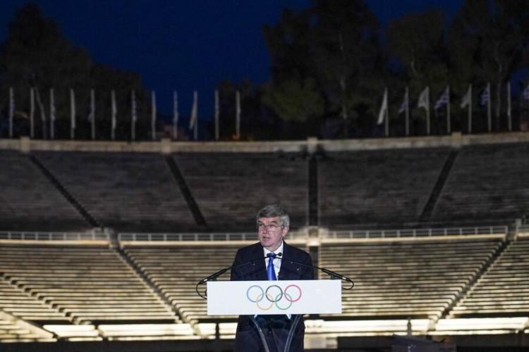 Presidente do COI, Thomas Bach, mostra otimismo sobre as Olimpíadas de Tóquio (Foto: GREG MARTIN / COI )
