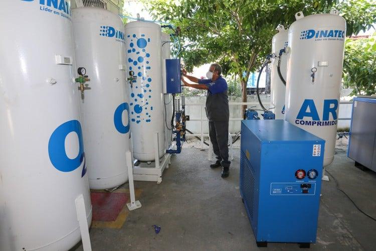 Miniusinas de oxigênio devem ser construídas na parceria entre o BNDES e empresas privadas. (Foto: Rodrigo Carvalho/Prefeitura de Fortaleza)