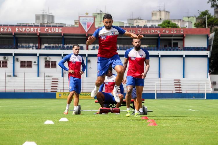 Fortaleza iniciou nesta terça-feira, 30, a preparação para o duelo diante do Bahia.  (Foto: Leonardo Moreira/ Fortaleza EC)