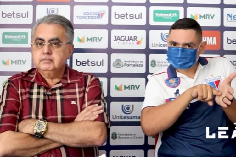 Sérgio Papellin, executivo de futebol do Fortaleza (Foto: Reprodução/TV Leão)