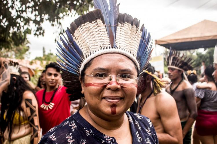 Ceiça Pitaguary, presidente da FEPOINCE. (Foto: Iago Barreto)