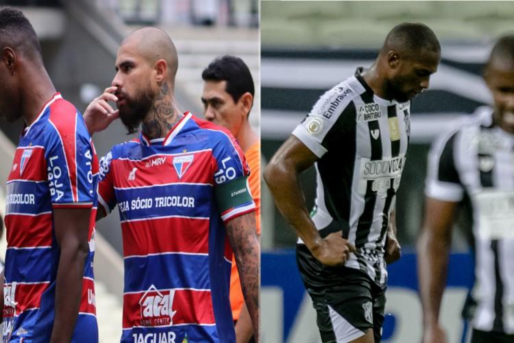 Fortaleza e Ceará têm as melhores defesas da Copa do Nordeste (Foto: Montagem da foto de Leonardo Moreira/Fortaleza EC e Aurélio Alves/OPOVO)