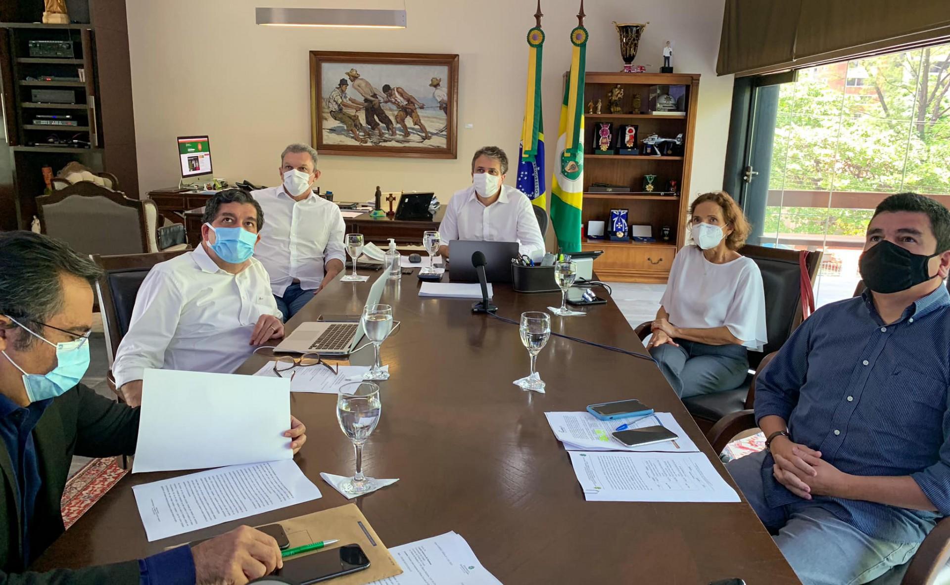 REUNIÃO do Comitê Estadual de Enfrentamento à Pandemia foi realizada ontem (Foto: Reprodução Facebook)