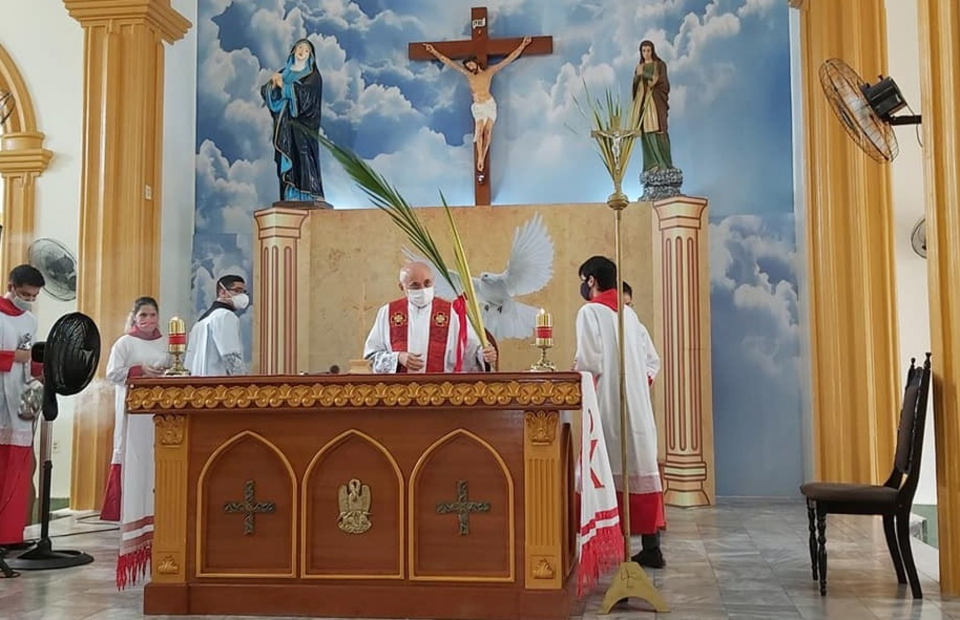 Domingo de Ramos na Paróquia de Nossa Senhora do Perpétuo Socorro em Reriutaba