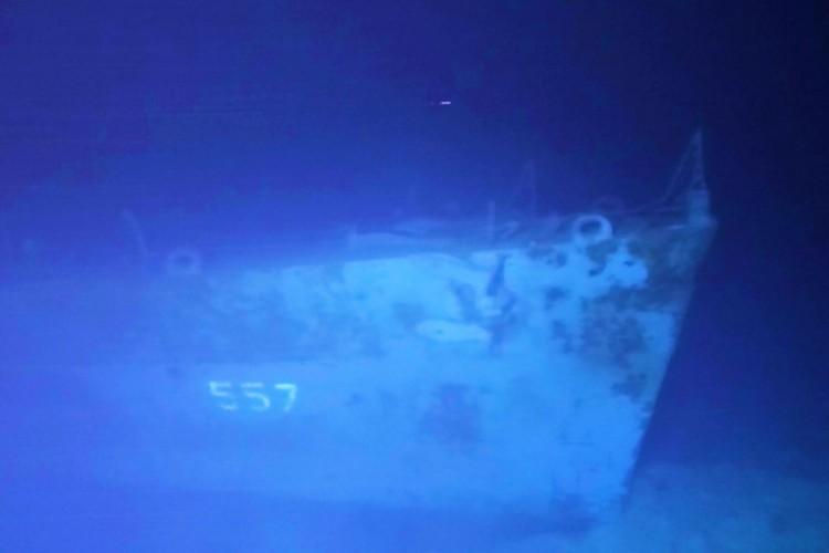 Destroços principais do USS Johnston, um contratorpedeiro classe Fletcher da Marinha dos EUA que afundou durante a Batalha de Samar na  Segunda Guerra Mundial. (Foto: Caladan Oceanic/AFP)