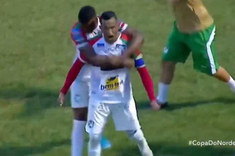 Ciel já marcou três gols em duas partidas disputadas pelo Salgueiro-PE (Foto: Reprodução/Twitter)