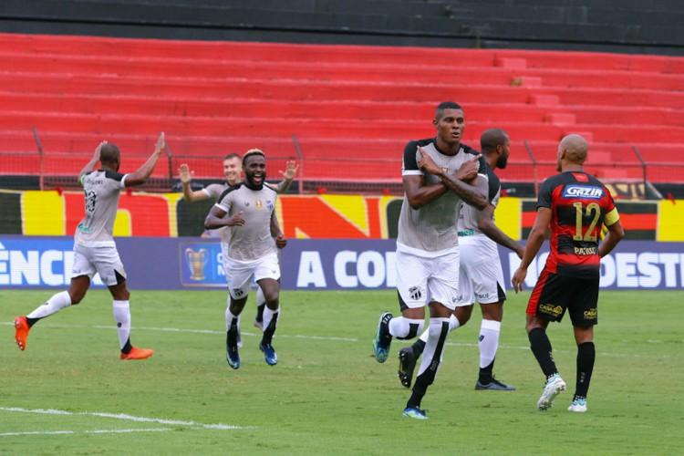 Cléber fez o primeiro gol pelo Ceará na temporada 2021 na goleada por 4 a 0 contra o Sport, pela Copa do Nordeste (Foto: Fausto Filho/cearasc.com)