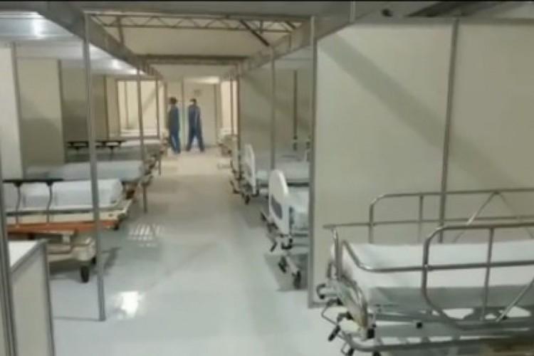 O Hospital de Messejana abriu 38 novos leitos de enfermaria para pacientes com Covid-19 neste domingo, 4. (Foto: Reprodução/ Instagram @camilosantanaoficial)