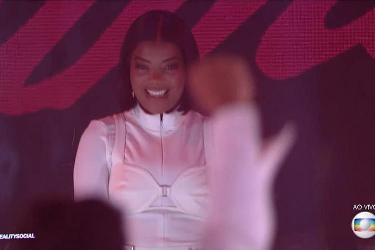 Apresentação da cantora Ludmilla na festa do BBB 21. (Foto: Reprodução/ Rede Globo)