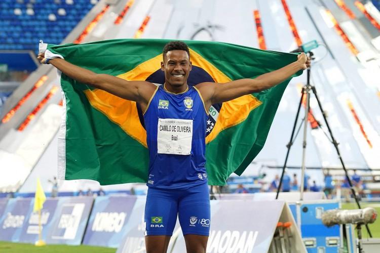 O atleta Paulo André Camilo de Oliveira ganhou medalha de outro em competição preparatória para Olimpíada de Tóquio  (Foto: Raul Vasconcelos/ rededoesporte.gov.br)
