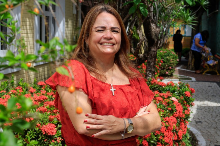 Michelle Holanda trabalha há 15 anos na ONG como voluntária