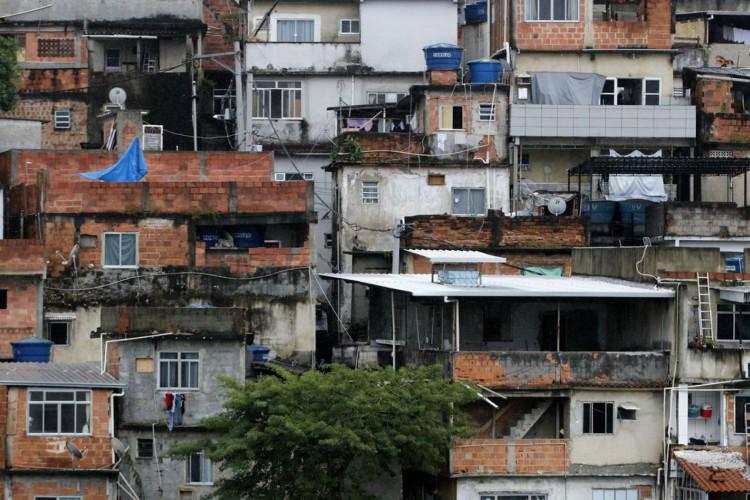 Vista geral da favela Morro Azul, na zona sul do Rio de Janeiro. (Foto: Tânia Rêgo)