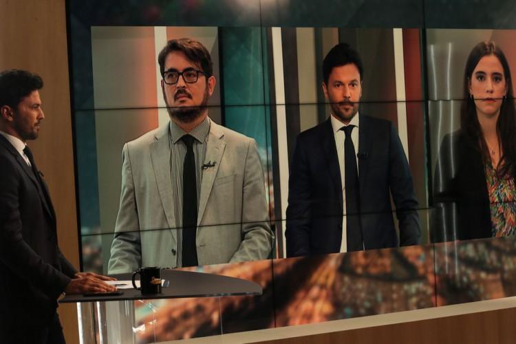 O ministro das Comunicações, Fábio Faria, participa do programa Sem Censura,  na TV Brasil (Foto: Marcello Casal JrAgência Brasil)