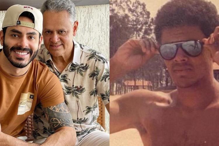 Juarez Dias, pai do cantor, resolveu, então, usar as redes sociais para prestar apoio ao filho, utilizando uma galeria de fotos antigas. (Foto: Reprodução/Redes Sociais)