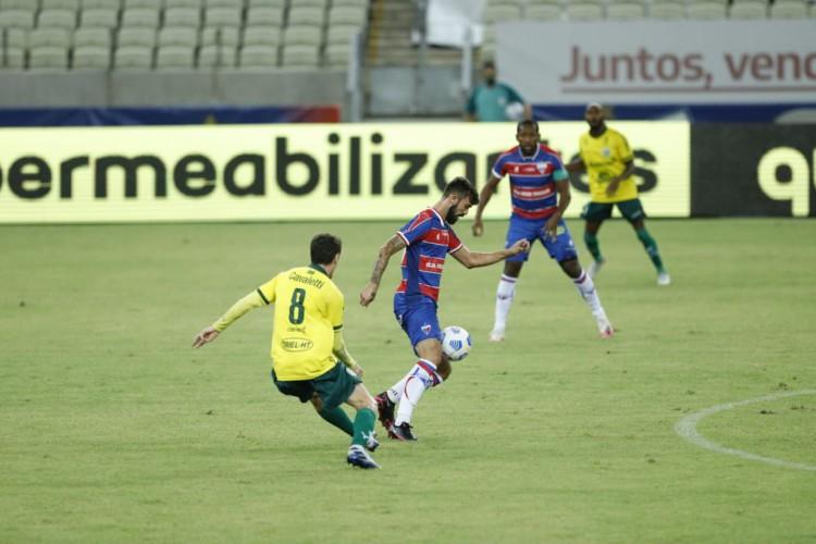 Fortaleza x Ypiranga. Jogo realizado na Arena Castelão, válido pela segunda fase da Copa do Brasil 2021.  (Foto: Fco Fontenele/O POVO)