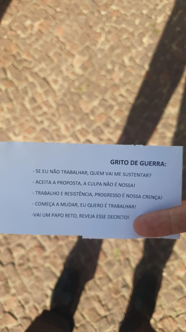 Em fevereiro, Luciana participou das manifestações do setor de bares e restaurantes.