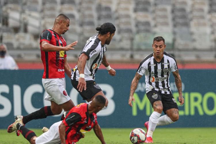 Atlético-MG vence Pouso Alegre e pemanece na ponta do Mineiro (Foto: )