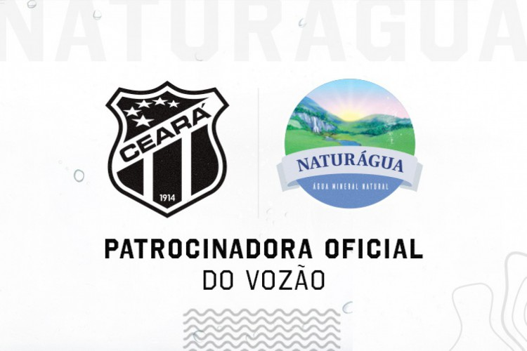Naturágua patrocinará o Ceará até o fim de 2021 (Foto: DIVULGAÇÃO)