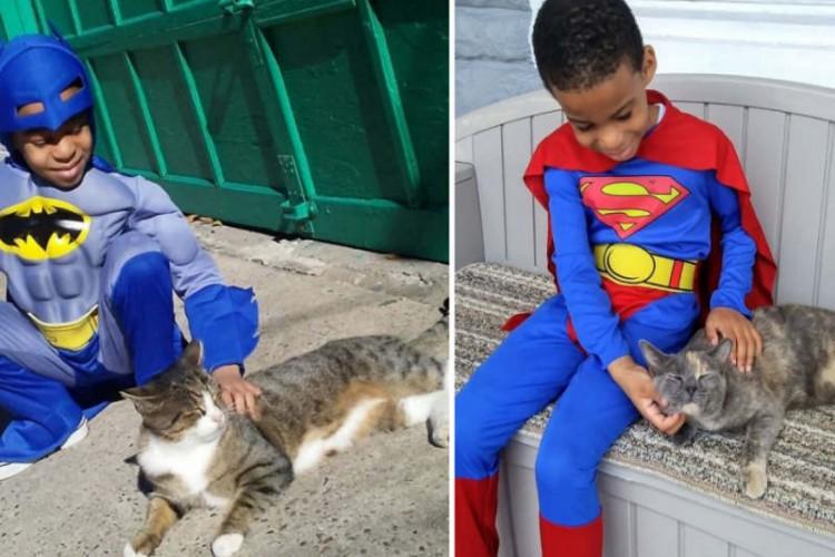 Batman, Superman, Flash e até Tartaruga Ninja foram alguns dos personagens dos quadrinhos que foram homenageados pelo menino.  (Foto: Reprodução / ABC News)