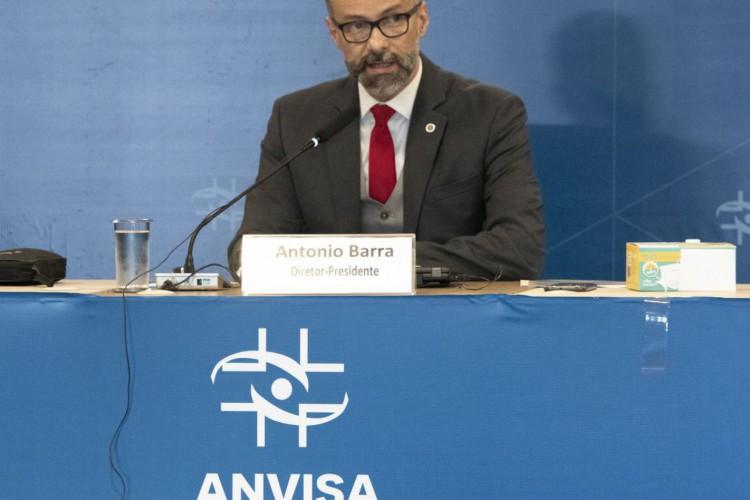 Diretor-presidente da Anvisa Antônio Barra Torres fala durante a abertura da reunião. (Foto: Divulgação/ Anvisa)