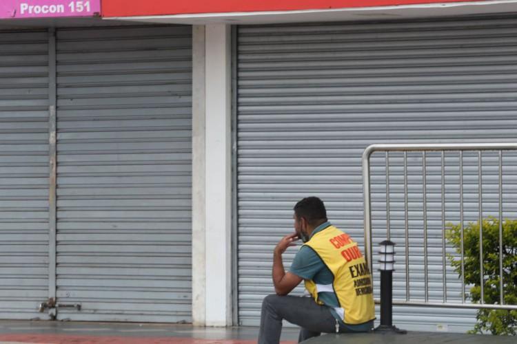 Comercio do DF funcionando com restricoes após decreto de Lockdown devido a pandemia do Coronavirus (Foto: Fabio Rodrigues Pozzebom/Agência Brasil)