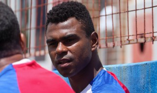 Zagueiro Wanderson em treino do Fortaleza no Centro de Excelência Alcides Santos, no Pici