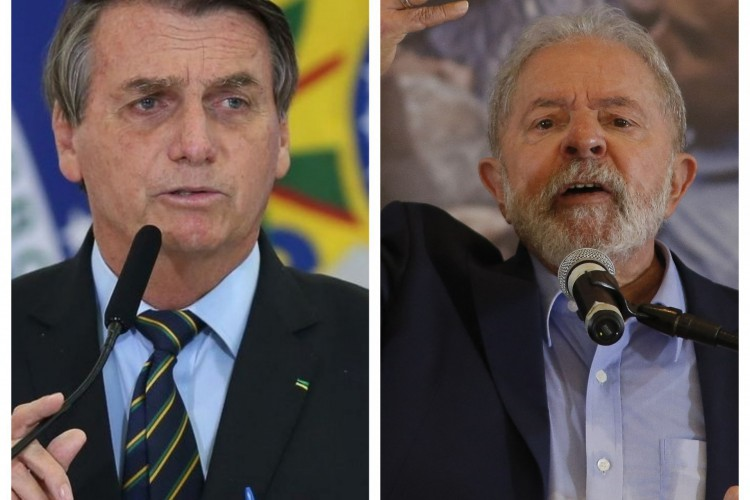 Bolsonaro e Lula são os principais nomes para a disputa presidencial de 2022. (Foto: Bolsonaro: Agência Brasil / Lula: AFP MIGUEL SCHINCARIOL )