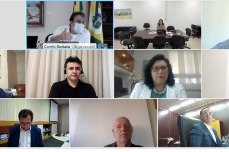 Em teleconferência com representantes do comitê, Camilo resolveu adiar decisão sobre retomada para amanhã (Foto: Reprodução Twitter)