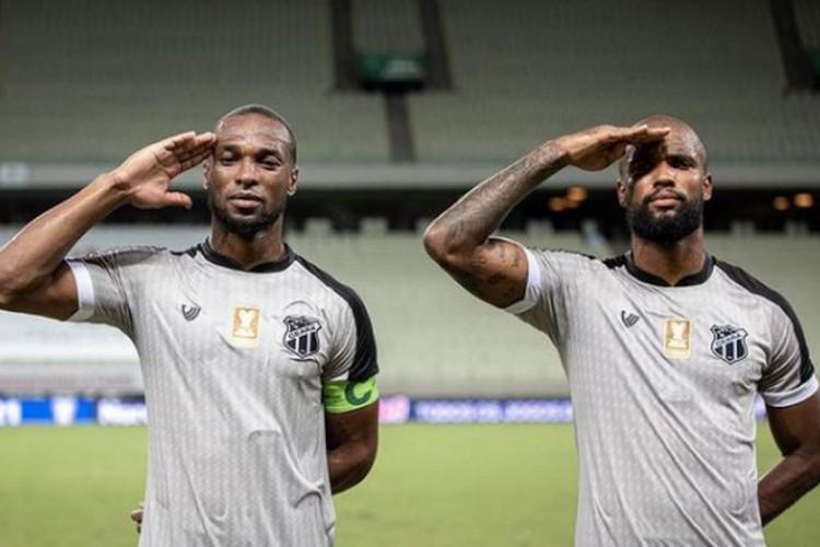 Messias e Luiz Otávio formam dupla de zaga titular do Ceará (Foto: Stephan Eilert/Cearasc)
