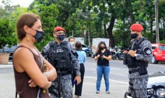 Protesto de educadores físicos foi dispersado pelo COTAM