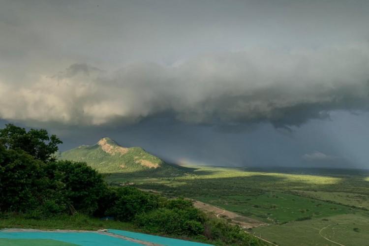 Foram observados 128,5 milímetros de chuvas durante o mês, onde o esperado era alcançar 188 milímetros (Foto: Divulgasção/Funceme/Edilailson Fideles)