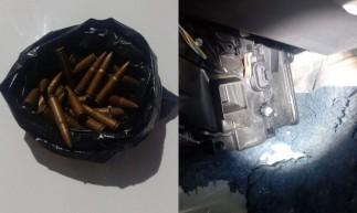 A munição encontrada é de uso restrito