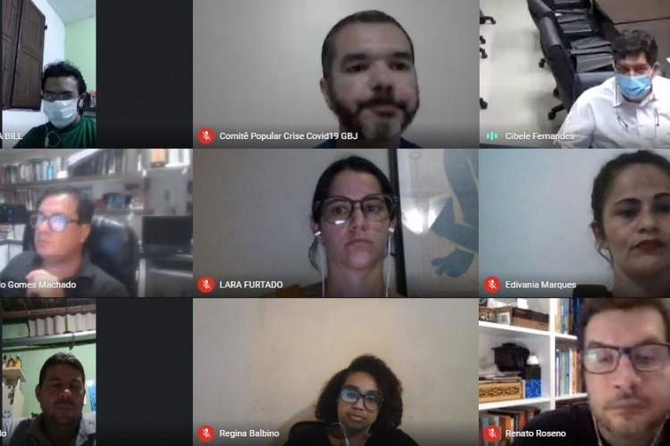 Também participaram da reunião representantes de comunidades, pesquisadores, parlamentares cearenses e membros do Executivo de Fortaleza e do Ceará. (Foto: Reprodução)