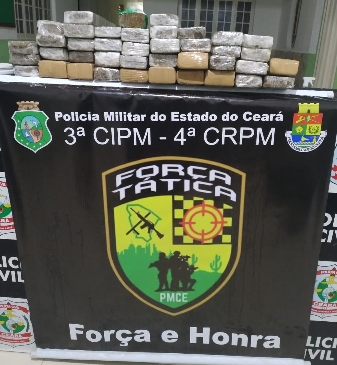 Quase 30 quilos de maconha foram apreendidos em um ônibus que vinha de São Paulo na cidade de Brejo Santo