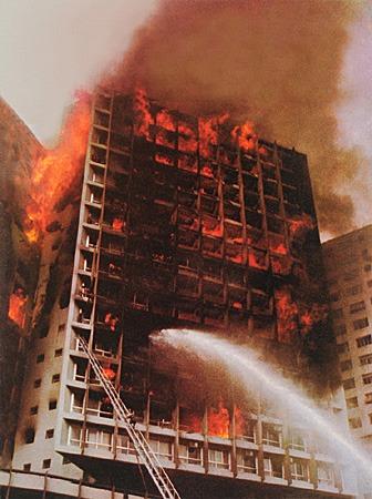 Foto Edificio Joelma em chamas (Foto:  Wikimedia Commons)