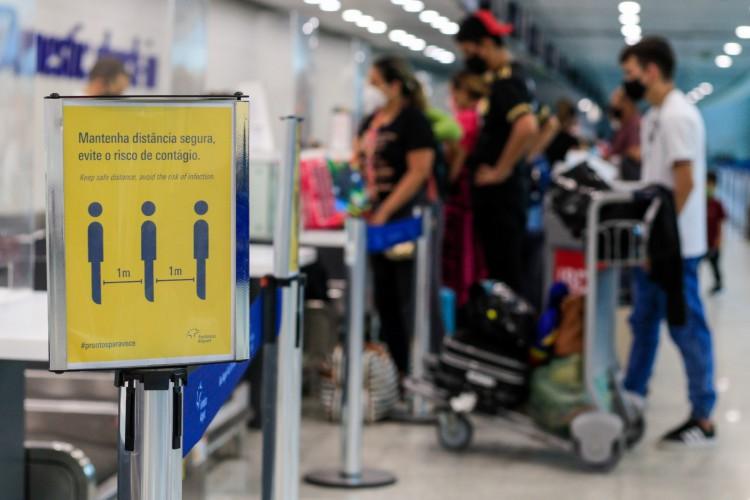 No Ceará, apenas 2,5% das passagens foram comercializadas com tarifas aéreas abaixo de R$100 (Foto: BARBARA MOIRA)