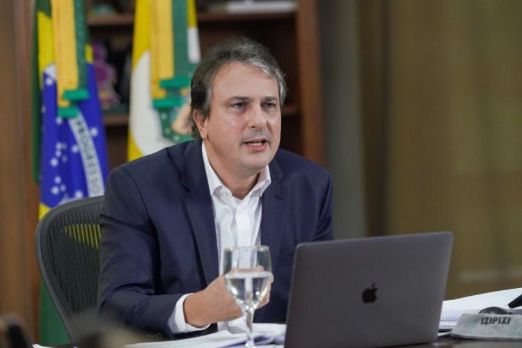 Governador Camilo Santana participou do seminário Brazil Conference, organizado pela Universidade de Harvard/MIT, nesta sexta-feira, 16.  (Foto: Reprodução twitter Camilo Santana)