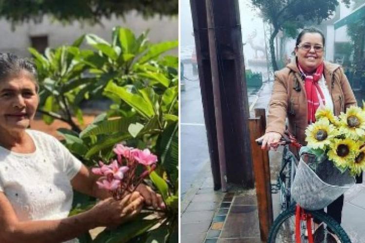 Mãe e filha, Luzanira Mesquita, 74, e Toinha Cruz, 48, morreram em decorrência da Covid-19. (Foto: Via WhatsApp O POVO)
