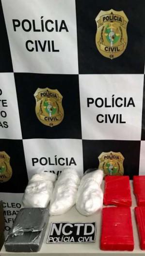 Mais de 10 kg de drogas foram apreendidos pela polícia (Foto: Divulgação SSPDS)