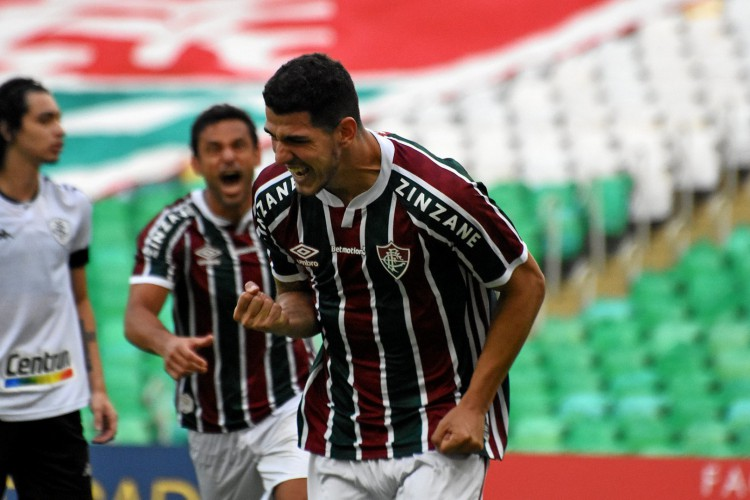 Zagueiro Nino comemora gol no jogo Fluminense x Botafogo, no Maracanã, pelo Campeonato Carioca (Foto: Mailson Santana/Fluminense FC)