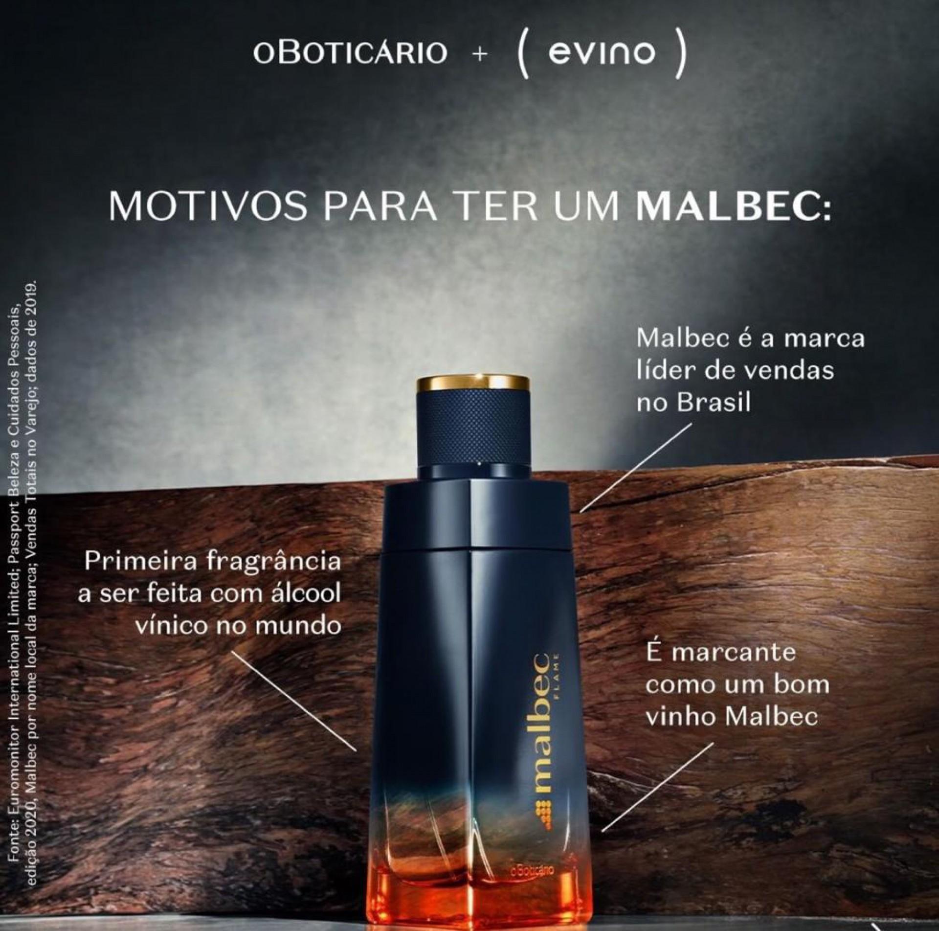 Inspirado no universo da enologia, a fragrância é produzida com álcool vínico