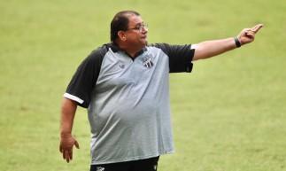 Técnico Guto Ferreira. Ceará enfrentou o Sampaio Corrêa no Castelão em jogo válido pela Copa do Nordeste 2021.
